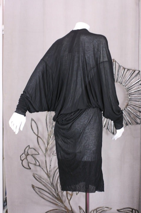 Black Gareth Pugh Back Draped Jersey For Sale