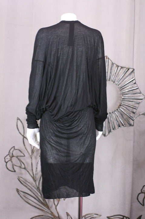 Gareth Pugh Back Draped Jersey In Excellent Condition For Sale In Riverdale, NY