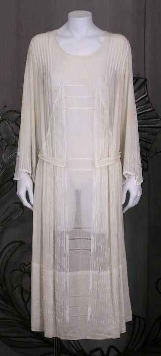 French 1920 S Beaded Voile Afternoon Dress For Sale At 1stdibs