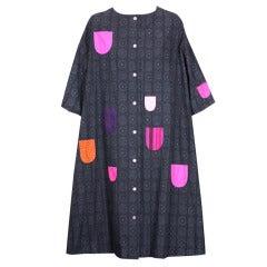 Marimekko Printed and Applique Cotton Dress
