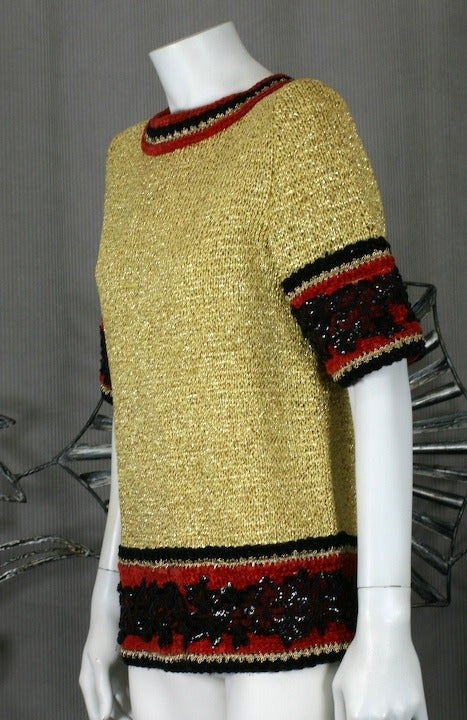 Christian Dior Gold Knit Sweater 2