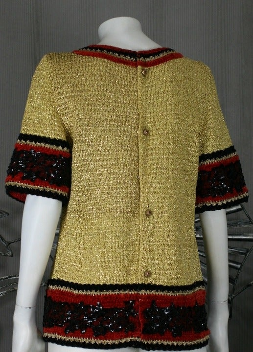 Christian Dior Gold Knit Sweater 3