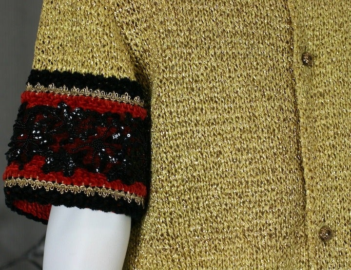 Christian Dior Gold Knit Sweater 5