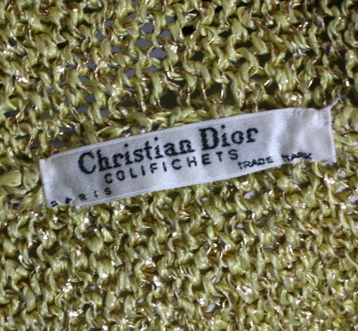 Christian Dior Gold Knit Sweater 6