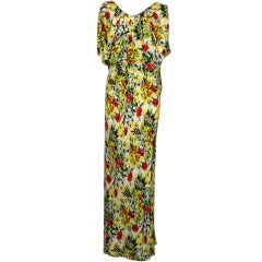 Floral 1930's Draped Evening Dress