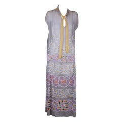 House of Adair Embroidered Cotton Floral Dress