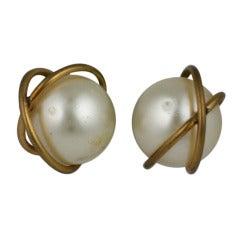 French Pearl Satellite Earrings