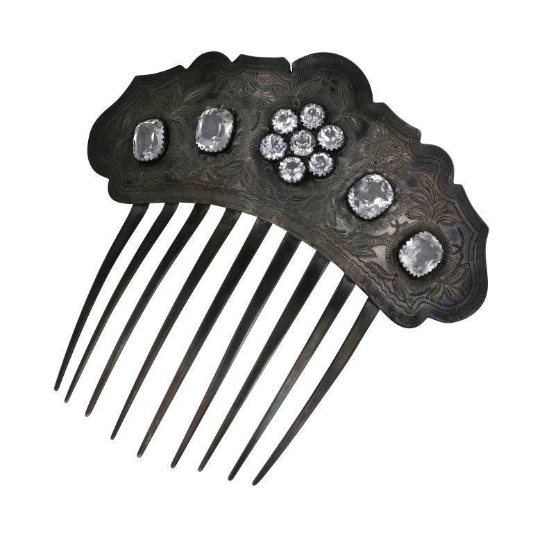 Victorian Paste Set Comb 1
