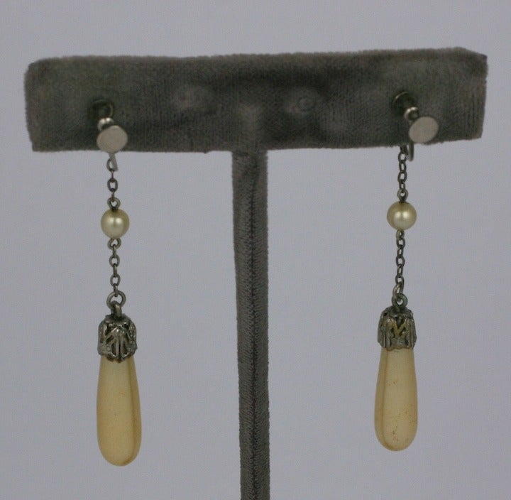 Art Deco Flapper Pearl Earrings 2