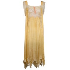 1920'S Lace Insert Silk Gown