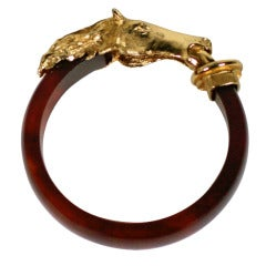 Carven Gilt Horse Bangle