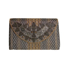 Unusual Delill Beaded Filigree Clutch