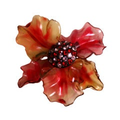 Vendome Lucite and Paste Flower