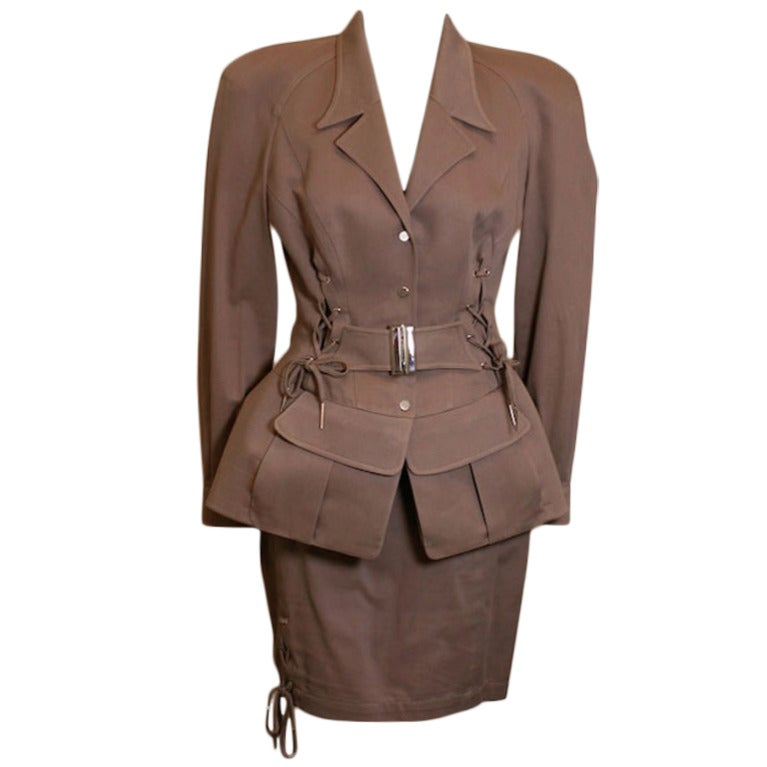 Thierry Mugler Peplum Safari Suit