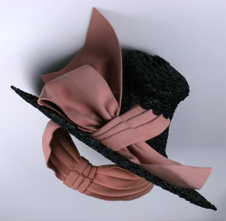 Hat1930 s Lacquered Miniature Straw Doll Hat at 1stdibs 9c28e3e8b1e7