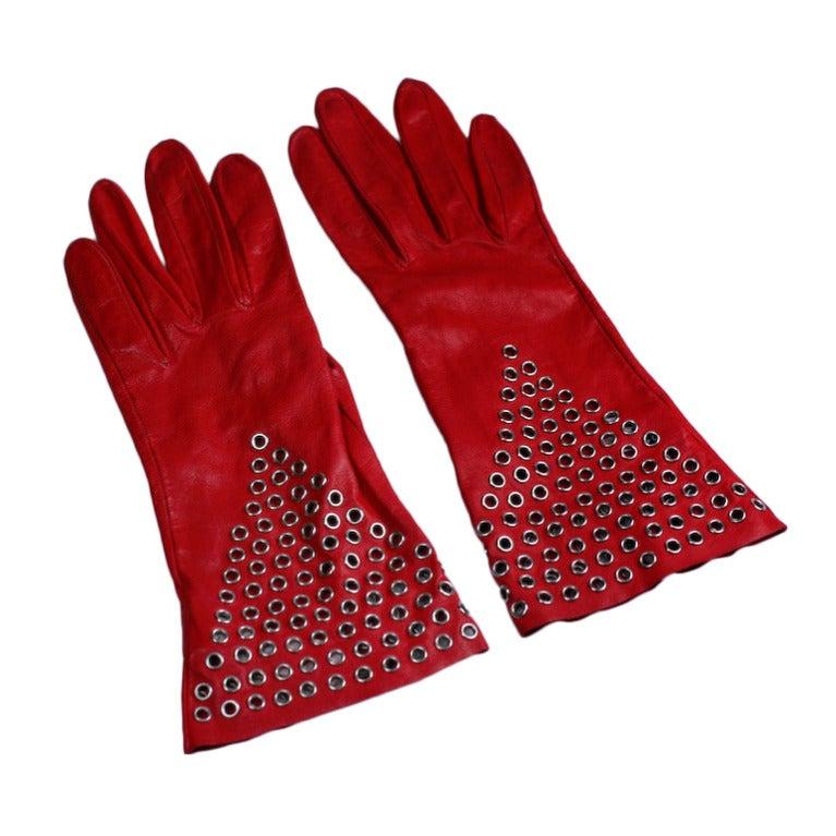 Azzedine Alaia Iconic Red Gauntlets
