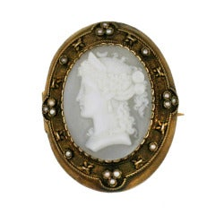 Mid Victorian Shell Cameo