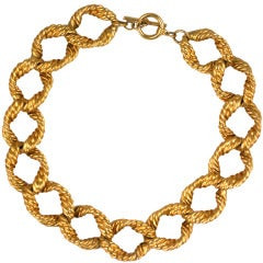 Twisted Link Chain Necklace