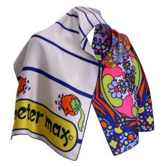 Peter Max Pop Art Silk Scarf