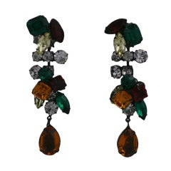 Yves Saint Laurent Multicolor Dangle Earrings