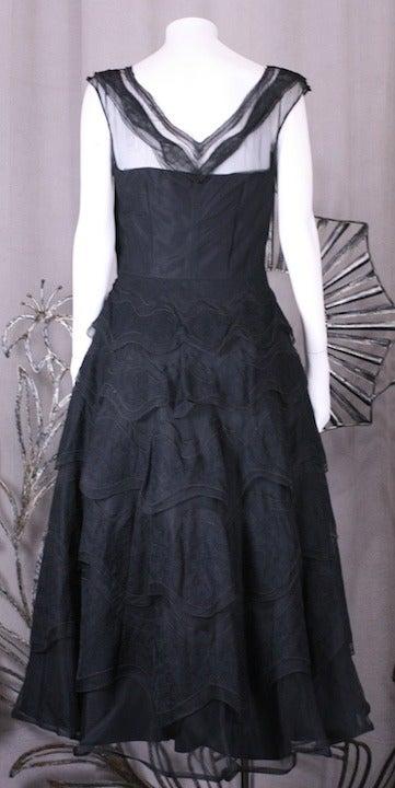Women's Glamorous Wavy Lace Ruffle Dress For Sale