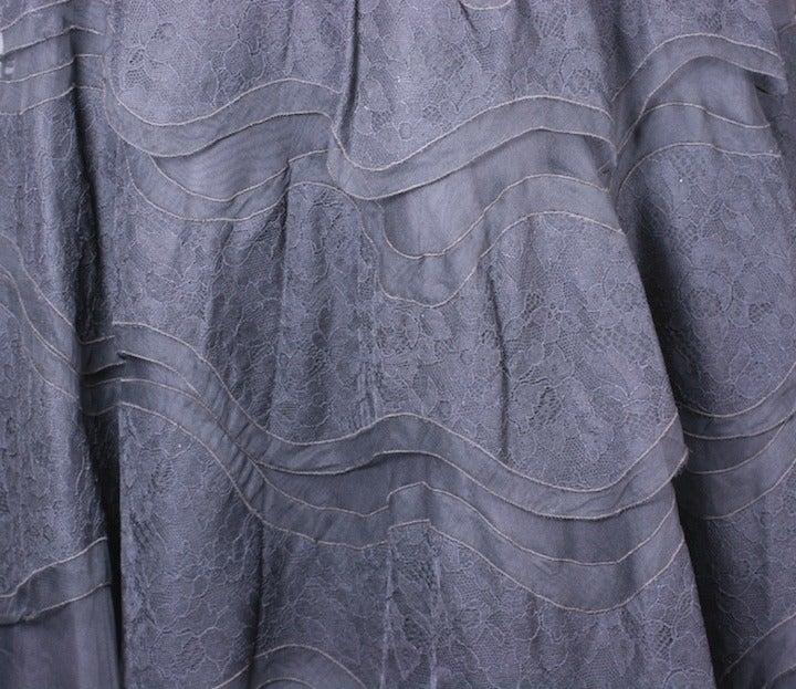 Glamorous Wavy Lace Ruffle Dress For Sale 2