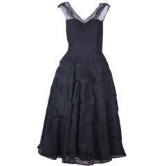 Glamorous Wavy Lace Ruffle Dress