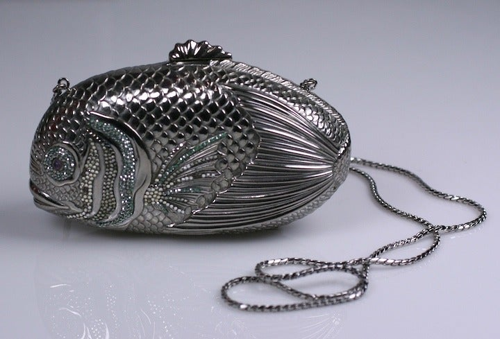 Judith Leiber Jeweled Fish Minaudiere 2