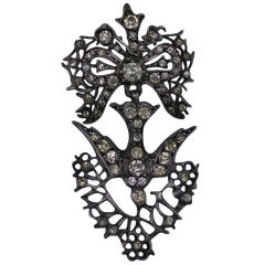 Early 19th Century French Paste Bird Pendant