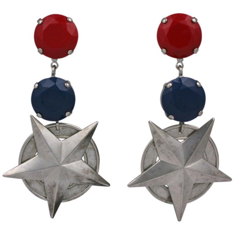 Nautical Star Earrings For Sale