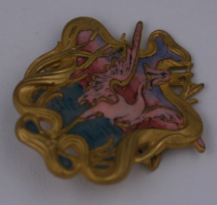 Piel Freres Art Nouveau Brooch In Excellent Condition For Sale In Riverdale, NY
