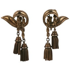 Retro Trifari Tassel Earrings