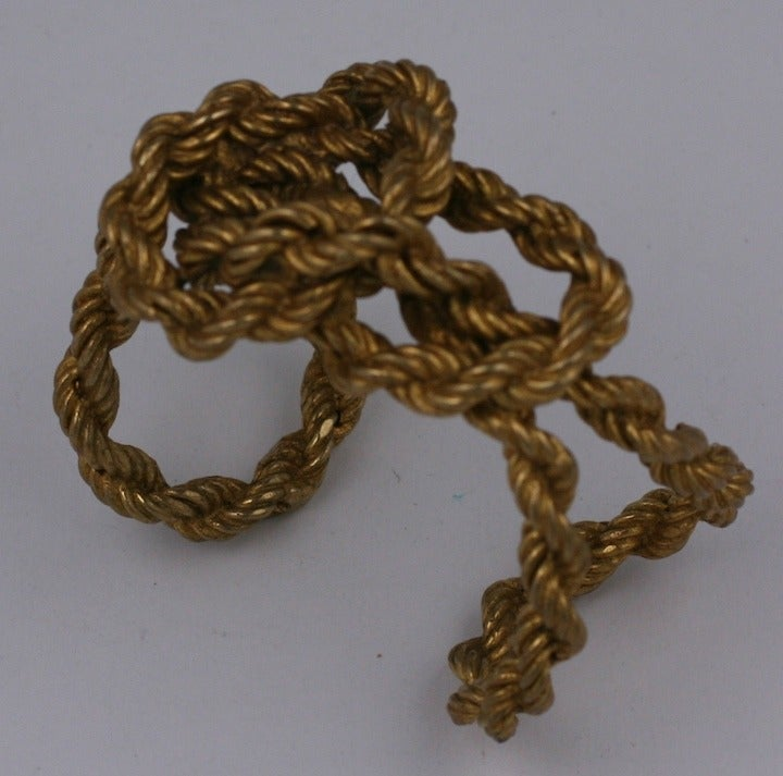 Mercedes Robirosa Free Form Knotted Chain Cuff For Sale At