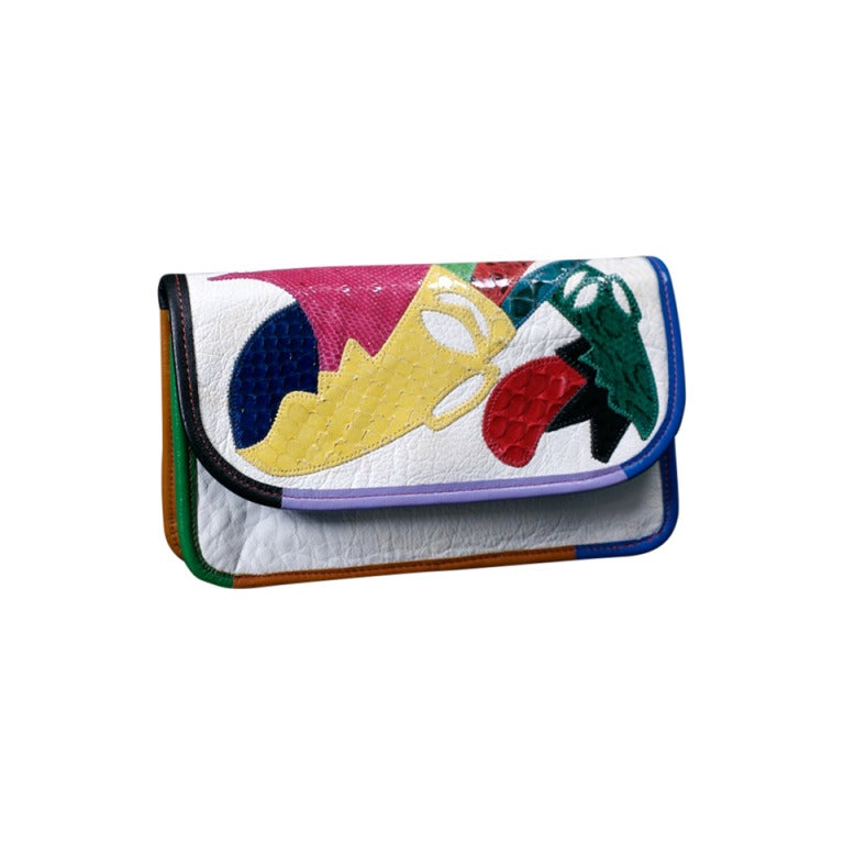 Carlos Falchi Colorful Clutch