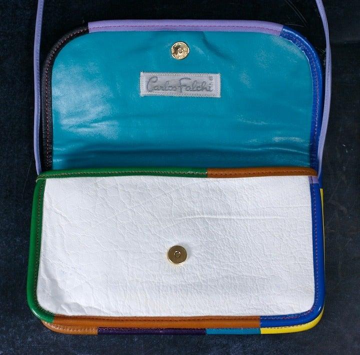 Women's Carlos Falchi Colorful Clutch For Sale