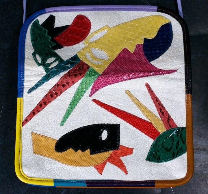 Carlos Falchi Colorful Clutch For Sale 1