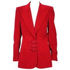 Chloe Tomato Red Corduroy Jacket