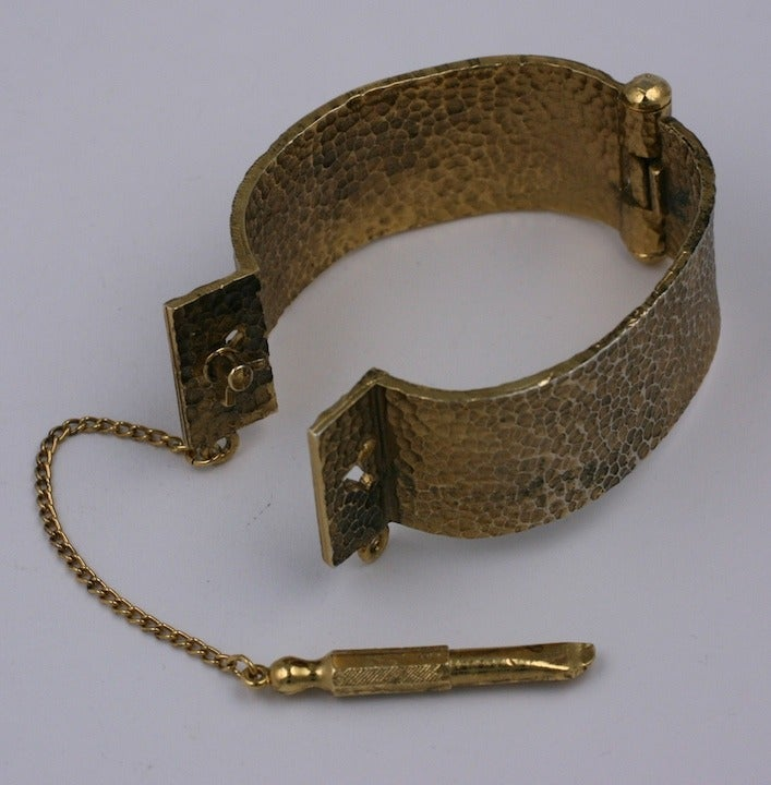 Hand Cuff Bracelet with Key In Excellent Condition For Sale In Riverdale, NY
