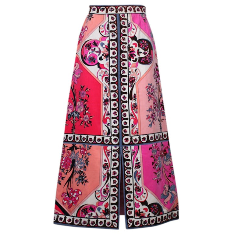 Pucci Velvet Evening Skirt 1