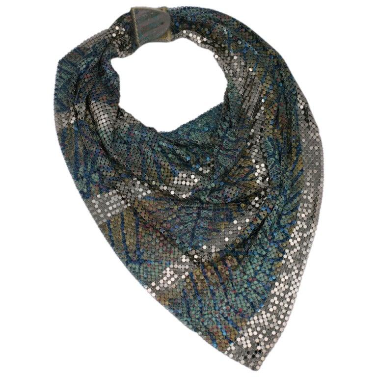 douglas ferguson handpainted mesh scarf for sale at 1stdibs