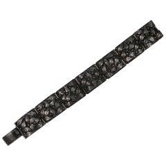 Arts and Crafts Sterling Leaf Bracelet