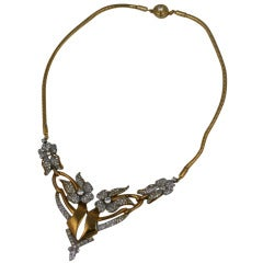 Flori-form Deco Necklace 1940s,