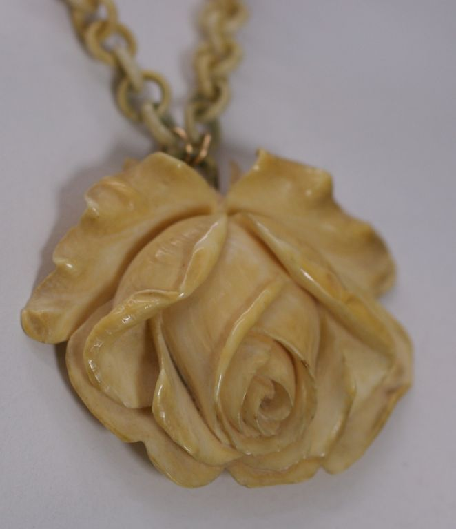 french kimberly tusk ivory and pendant a jewelry klosterman gold