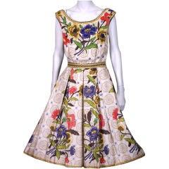 Suzy Perette Floral Silk Day Dress