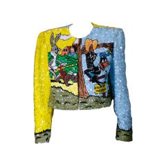 Amusing Bugs Bunny and Daffy Duck Sequin Evening Jacket
