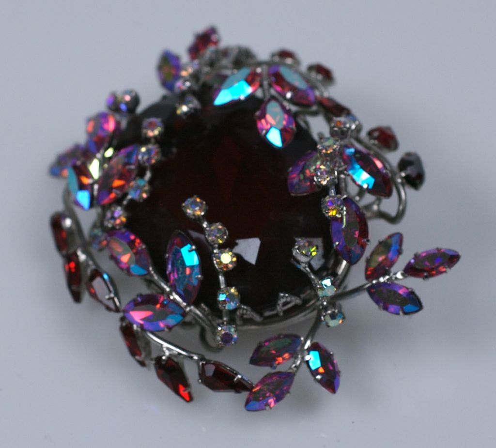 Amazing Czech Large Ruby Brooch 3
