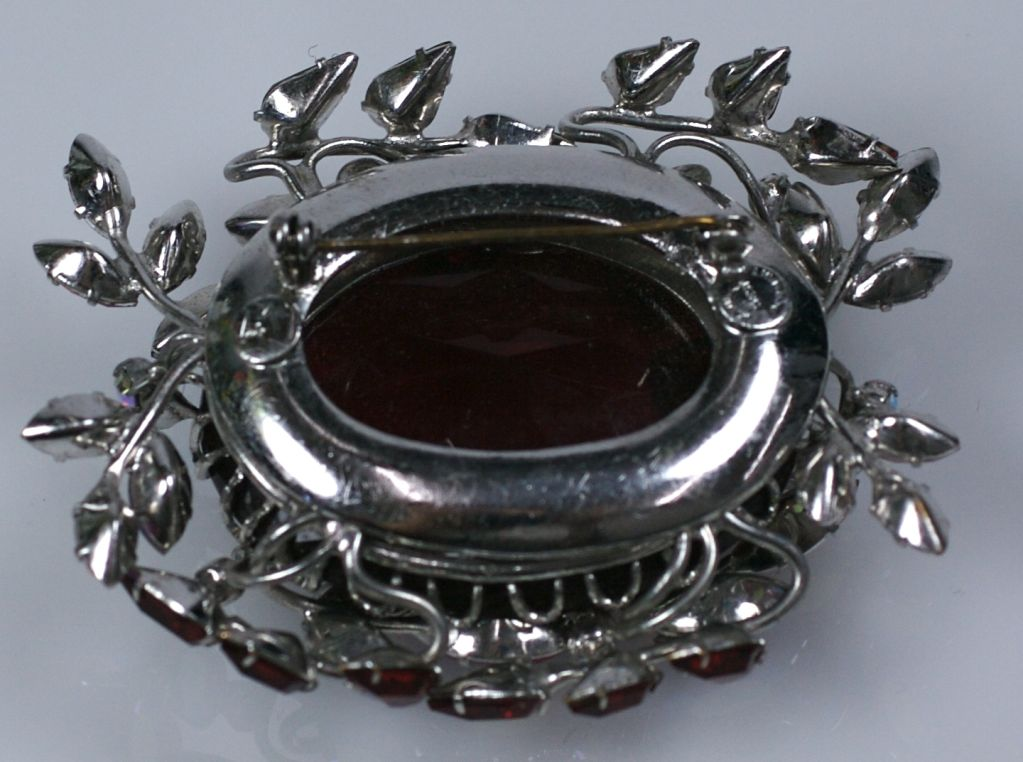 Amazing Czech Large Ruby Brooch 5