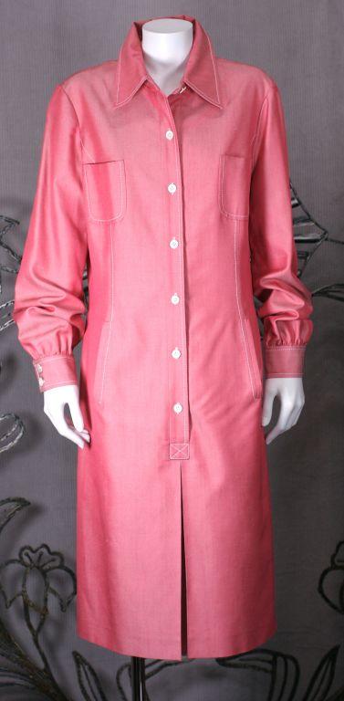 Carolina Herrera Silk Twill Shirtdress 2