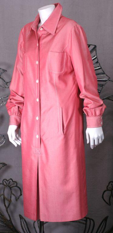 Carolina Herrera Silk Twill Shirtdress 3