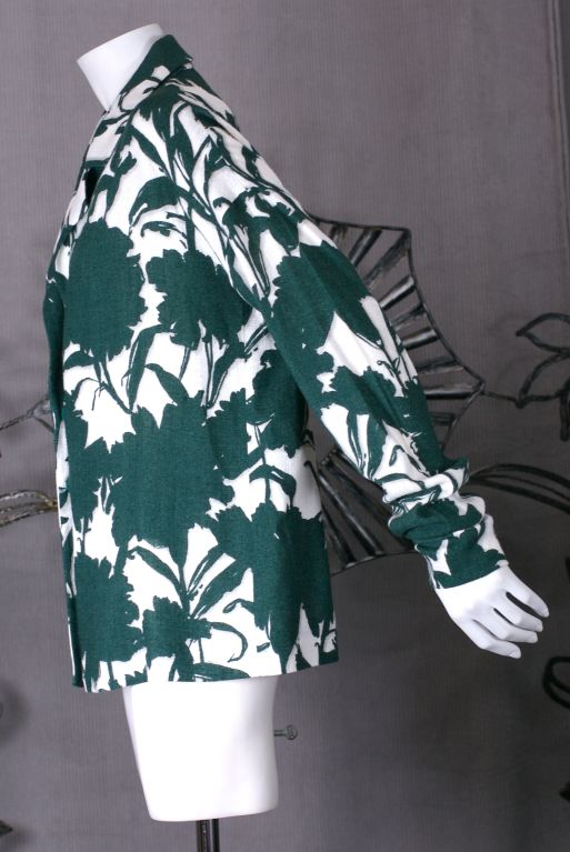 Summer Prada Carnation Shadow Print Jacket image 2